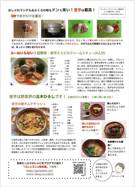 2019年11月里芋のレシピ