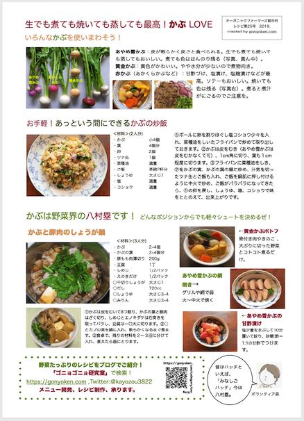 2019年11月かぶのレシピ