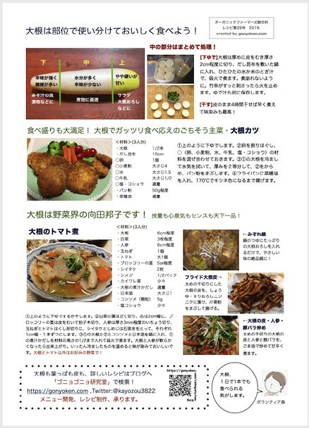 2019年12月大根のレシピ