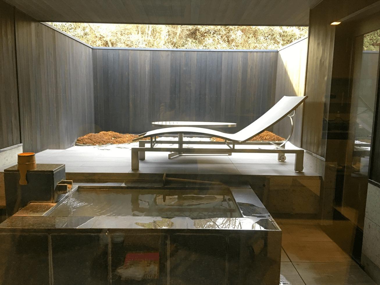 金谷リゾートの個室露天風呂の写真
