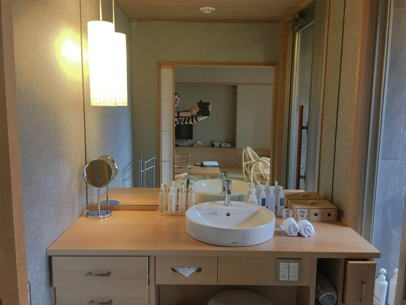 強羅白檀の洗面所の写真