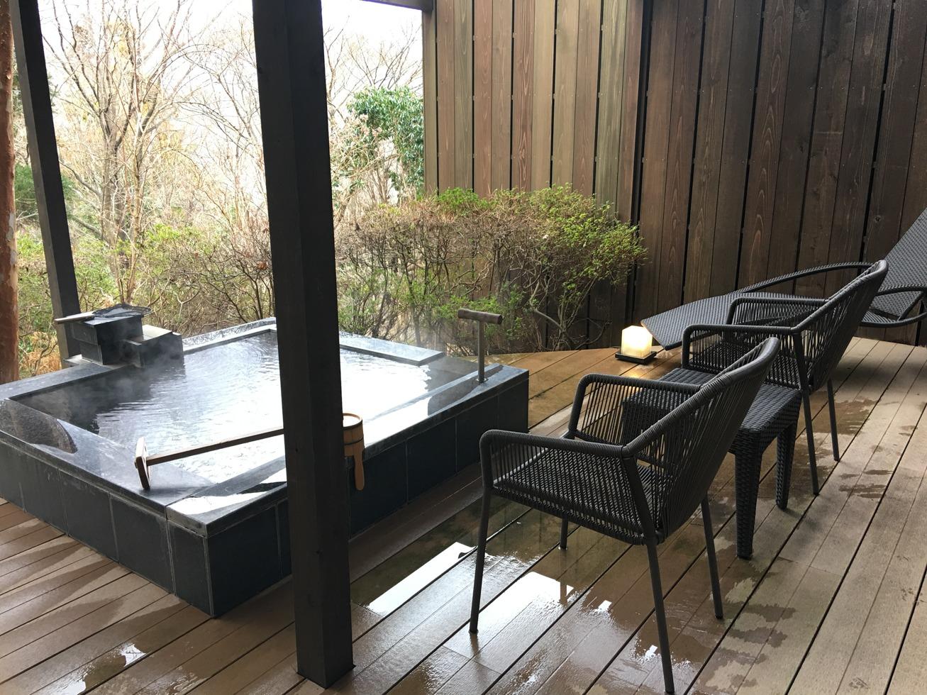 強羅白檀の個室露天風呂の写真