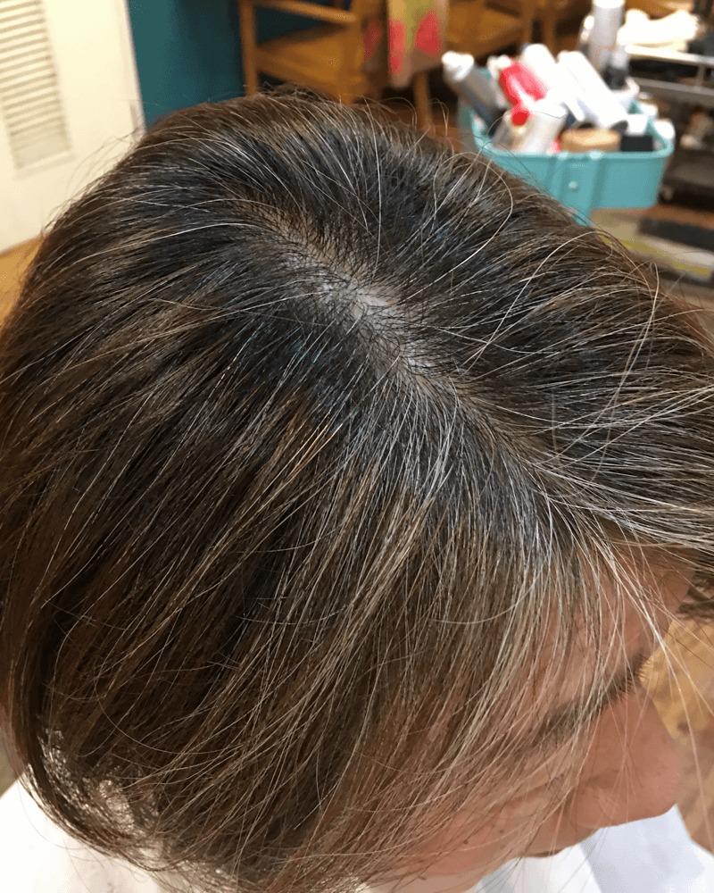 髪を染める前の写真