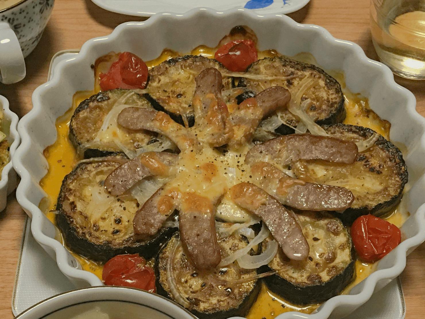ズッキーニのピザ風オーブン焼の写真