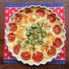 オクラとトマトのキッシュの写真