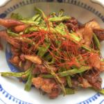 十六ささげで!激安激ウマおつまみ・鶏皮ニンニクじょうゆ焼き・レシピ|ゴニョ研