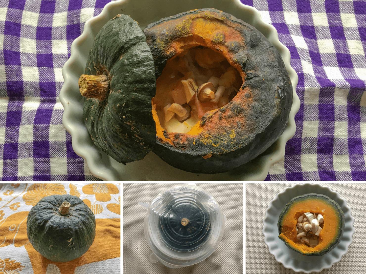 坊ちゃんかぼちゃの超簡単丸ごとチーズ焼きの写真