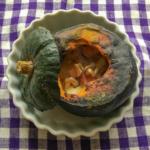 坊ちゃんかぼちゃの丸ごとチーズ焼きの写真