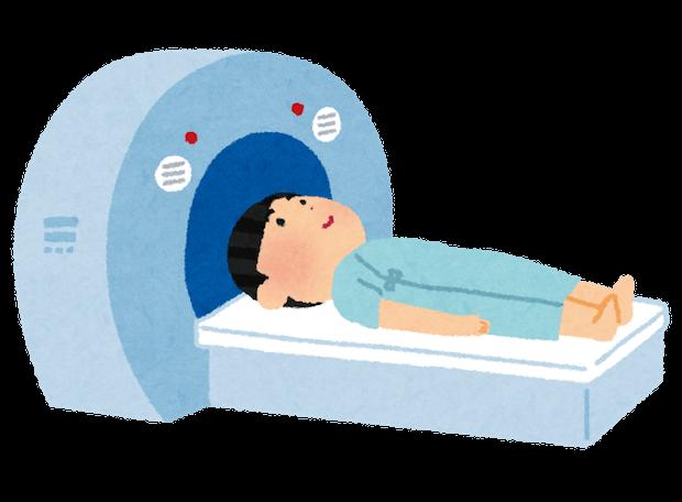 MRI検査中の人のイラスト