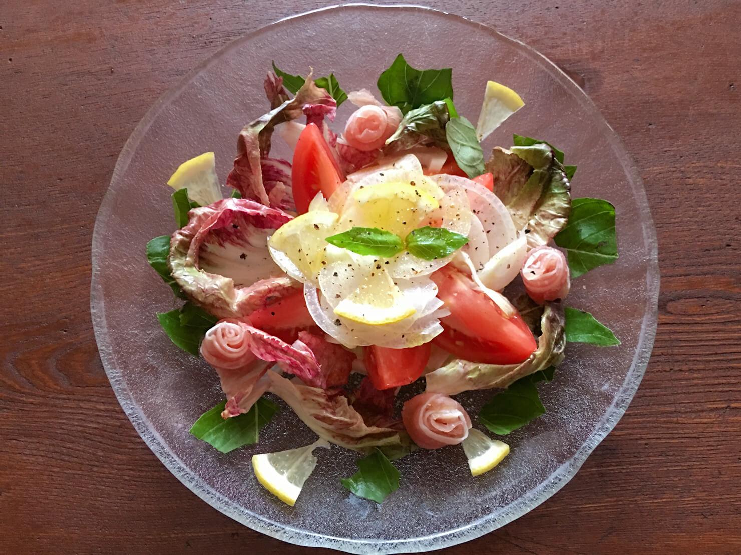 トレビスのサラダの写真