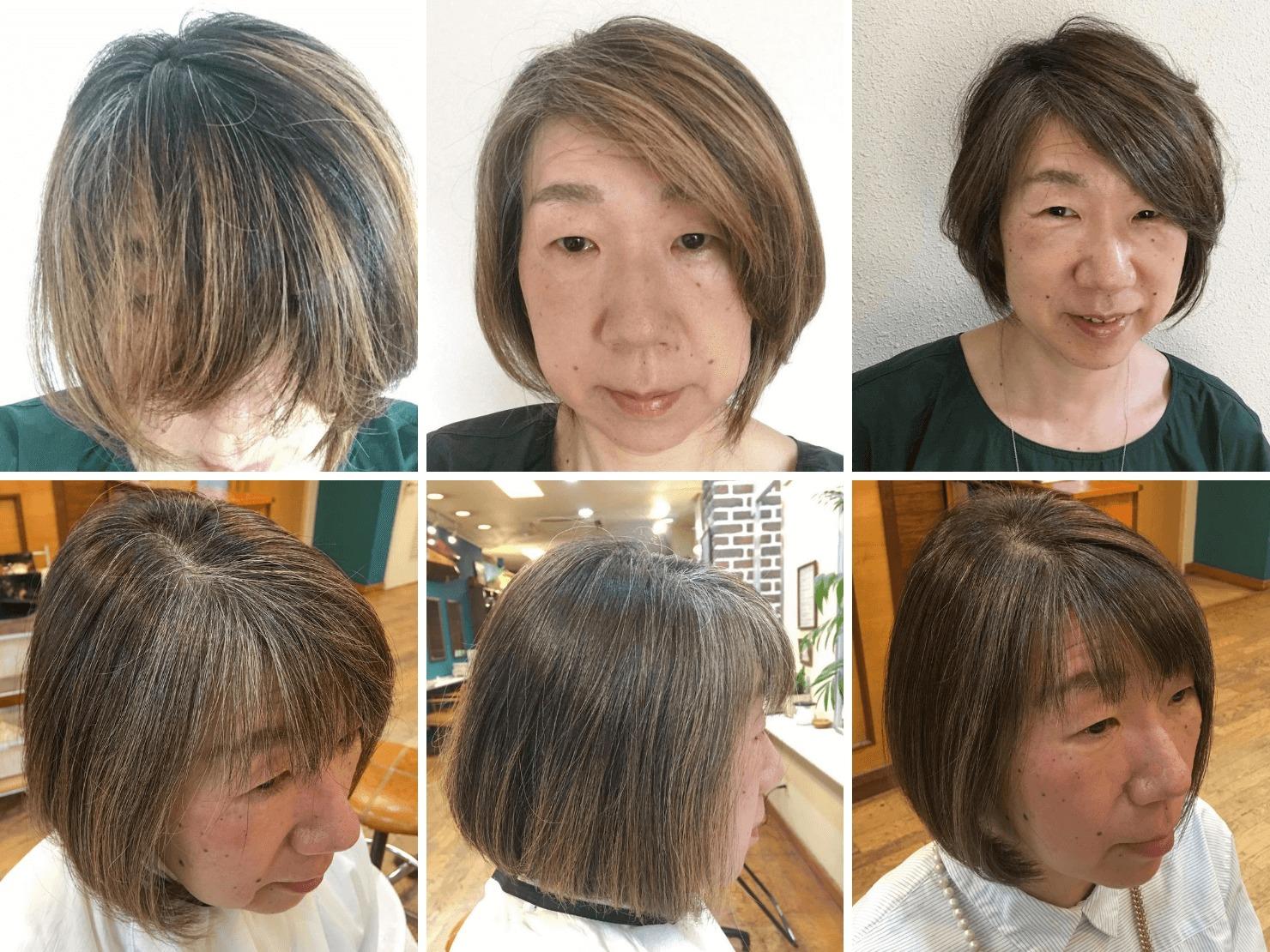 グレイヘアを目指すガッツの髪色の写真