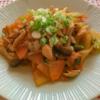 冬瓜と豚バラとキムチの炒め物の写真