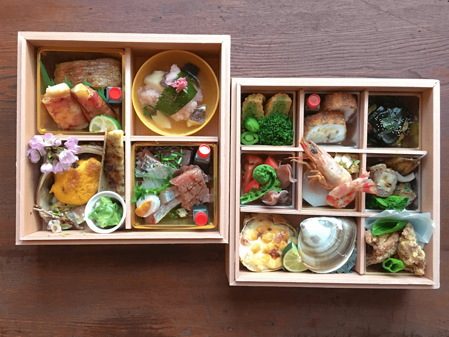 記念日のお弁当の写真