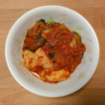 鶏胸肉となすのトマト煮の写真
