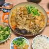 冬瓜と豚肉のきのこ鍋の写真