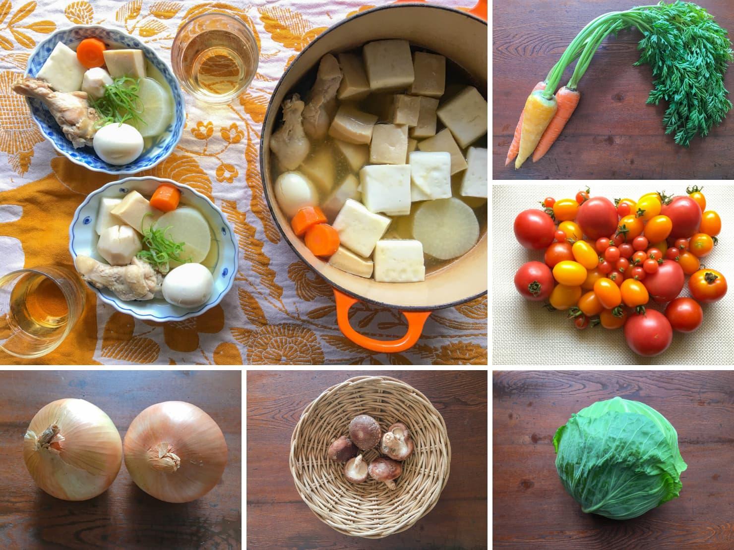 野菜がたくさんとれるおでんの写真
