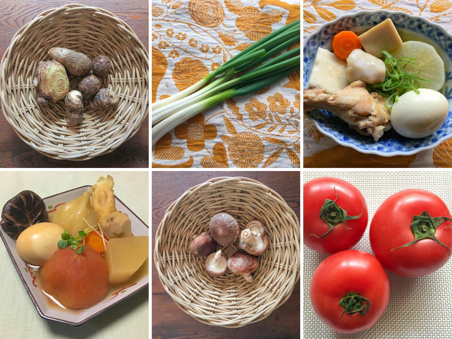 野菜入りのおでんや野菜の写真