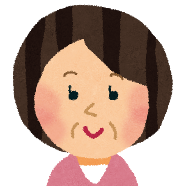 中年女性のイラスト