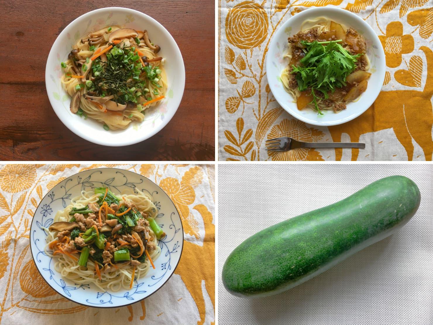 いろいろな野菜のあんかけパスタの写真