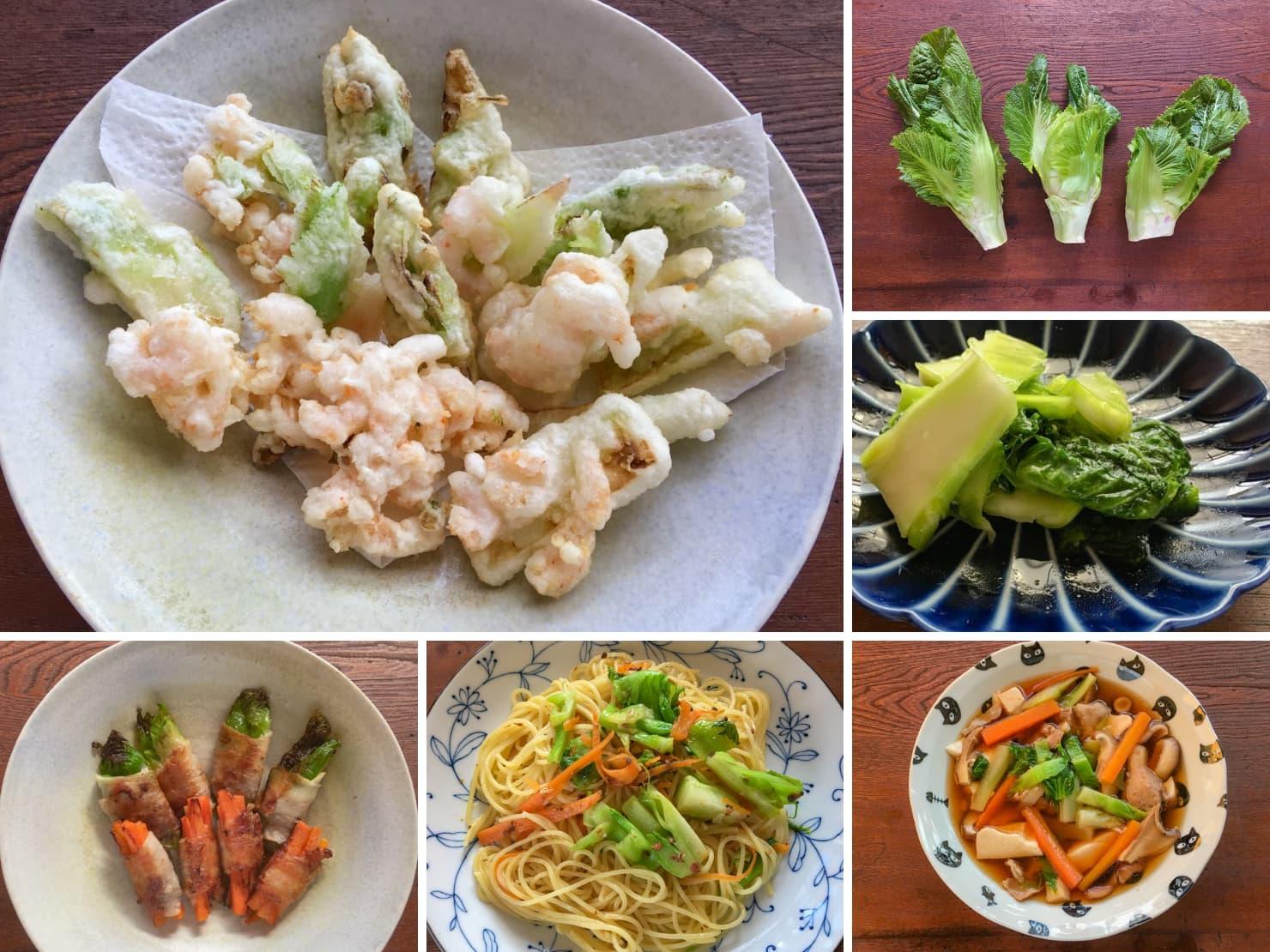 子持ち高菜と子持ち高菜の料理の写真