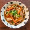 子持ち高菜と豆腐ときのこの具だくさん中華スープ