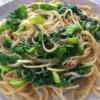 かつお菜としらすのあっさり和風パスタの写真