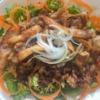パーマグリーンと豚バラの焼肉サラダの写真
