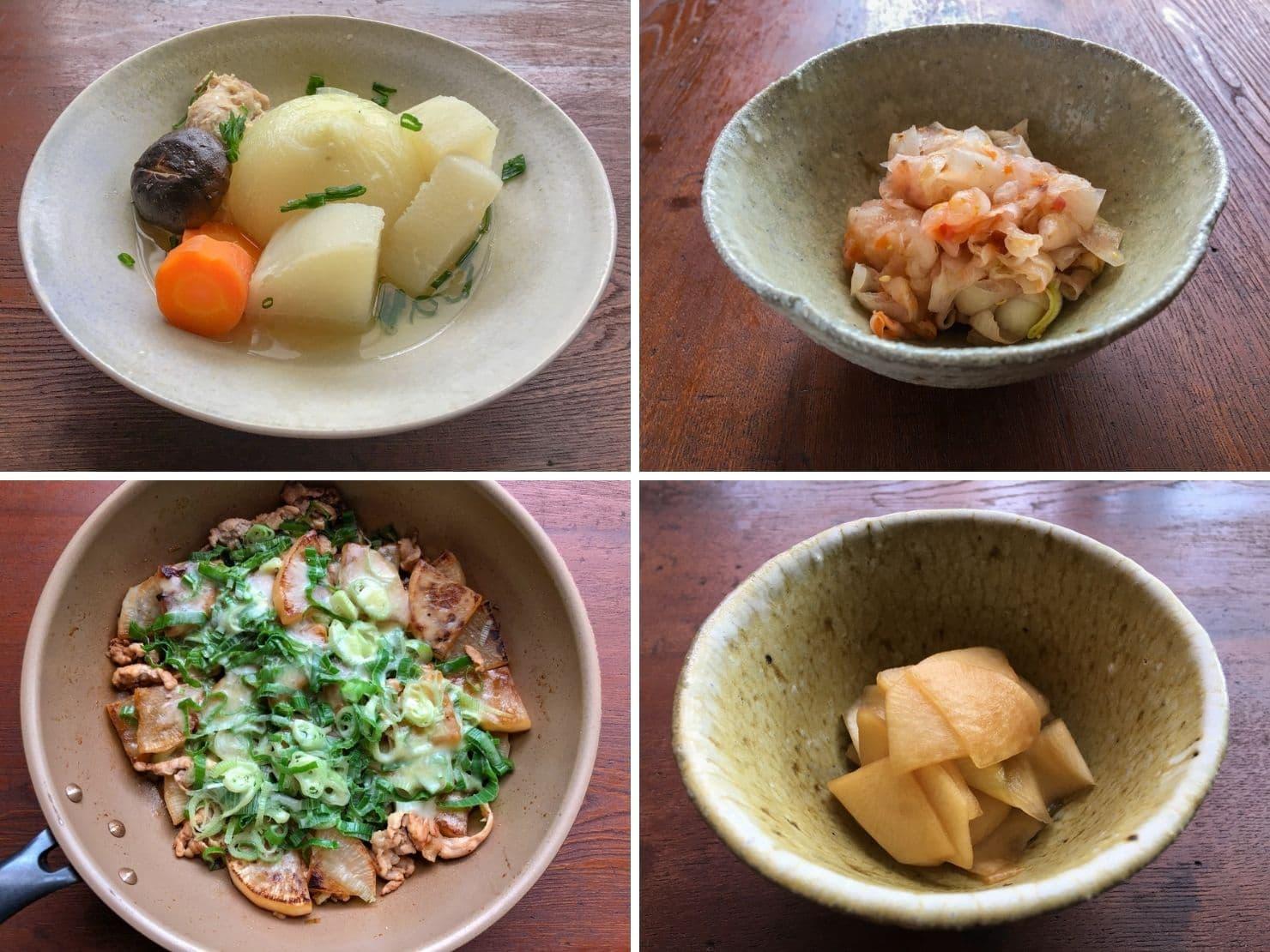 オンライン料理教室で作る料理の写真