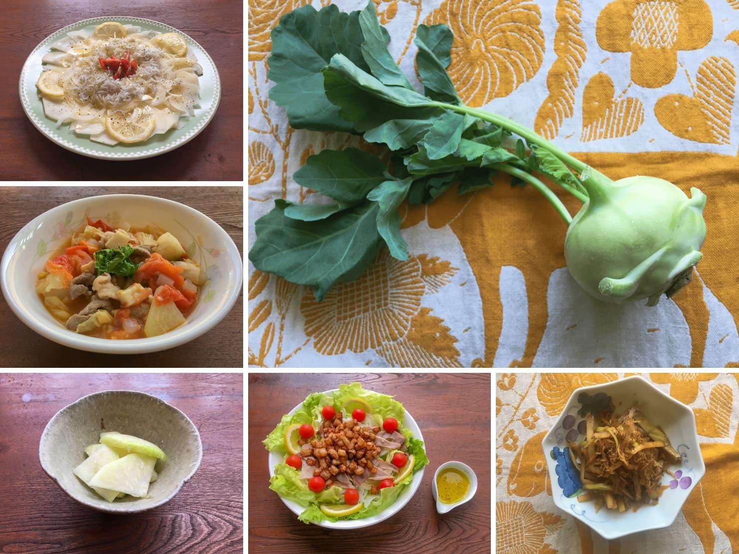 コールラビやコールラビの料理の写真