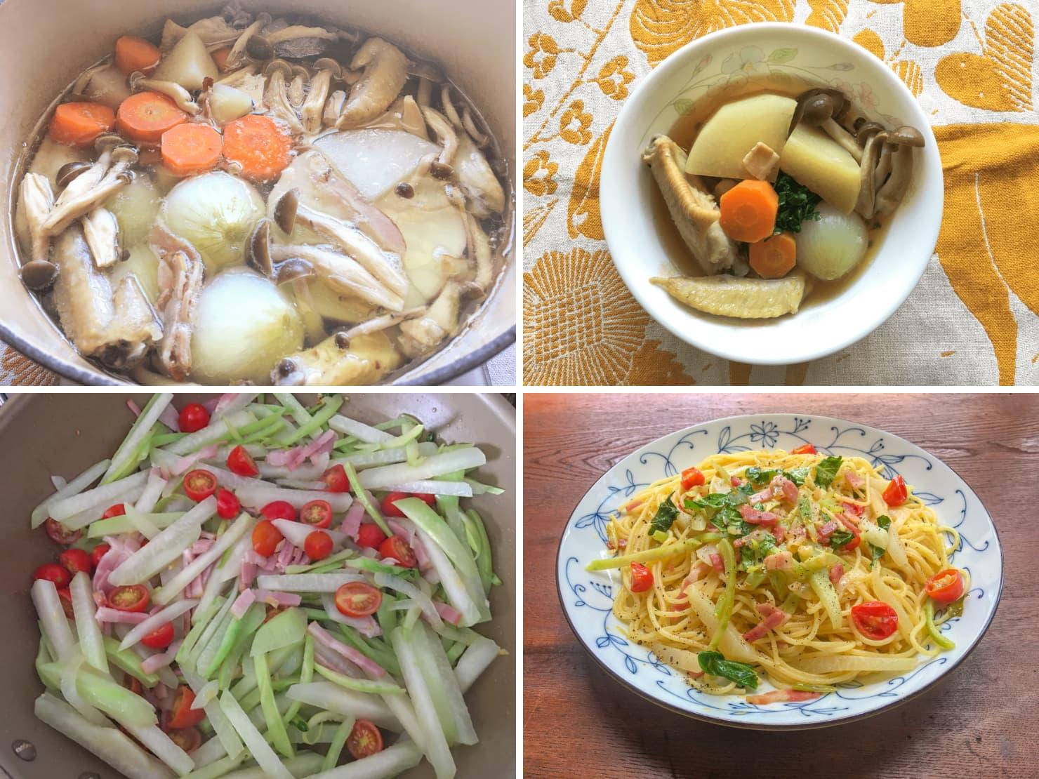 コールラビを加熱して食べる料理の写真