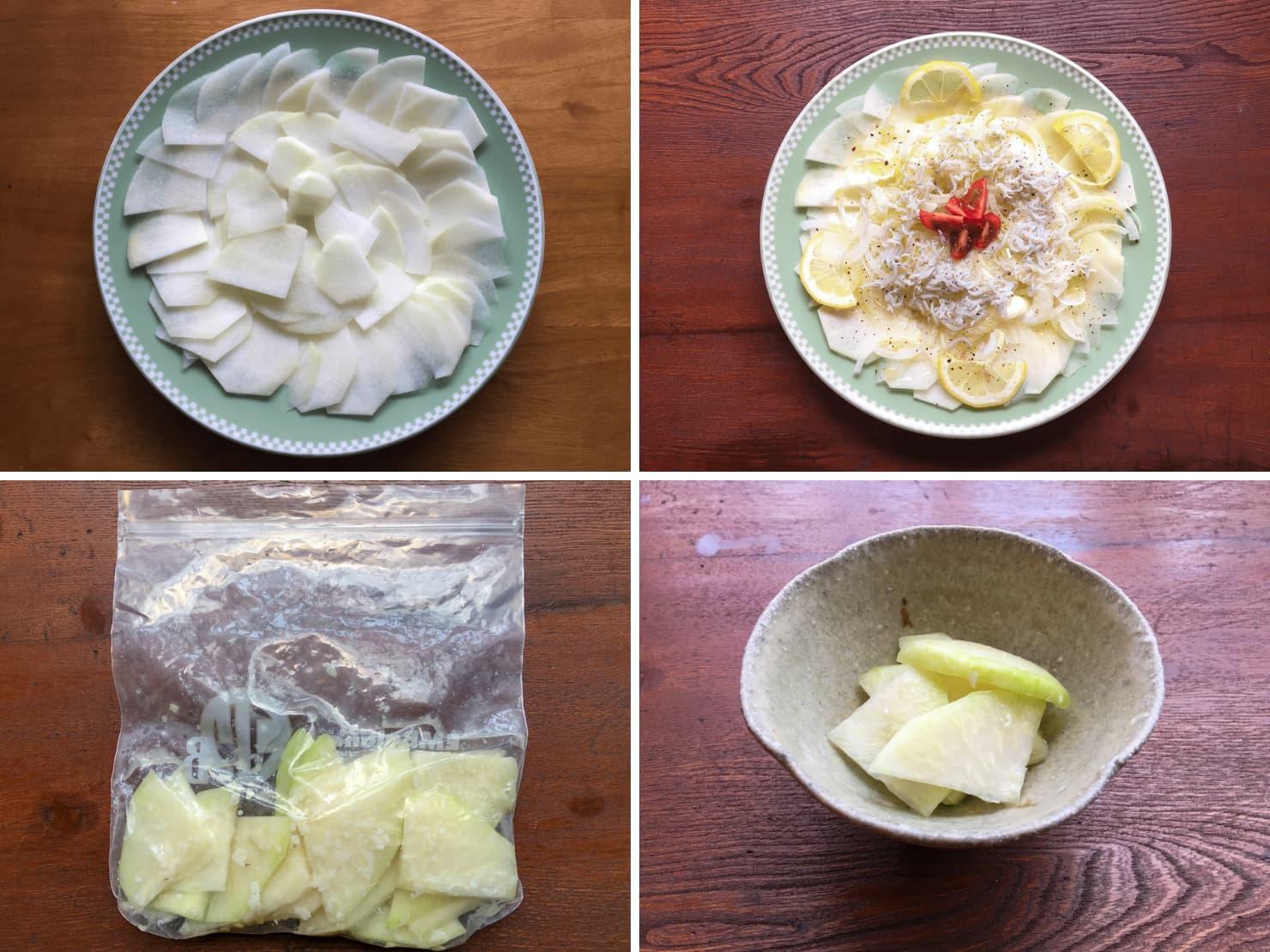 コールラビを生で食べる料理の写真