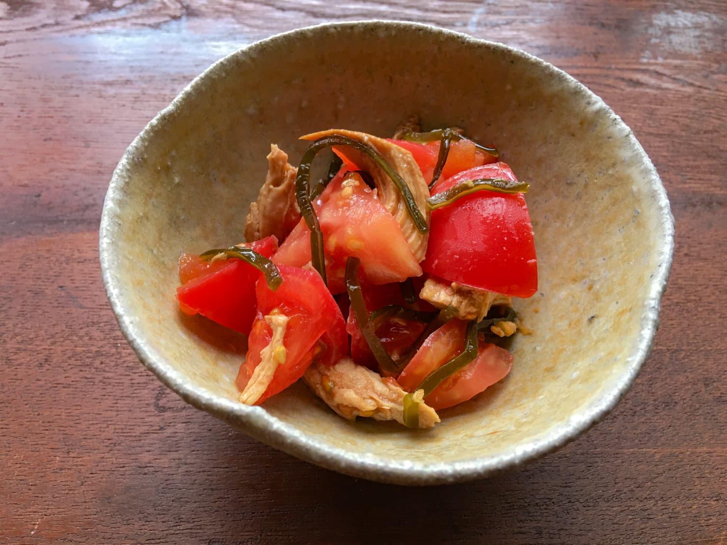 トマトとささみのしょうがあえの写真