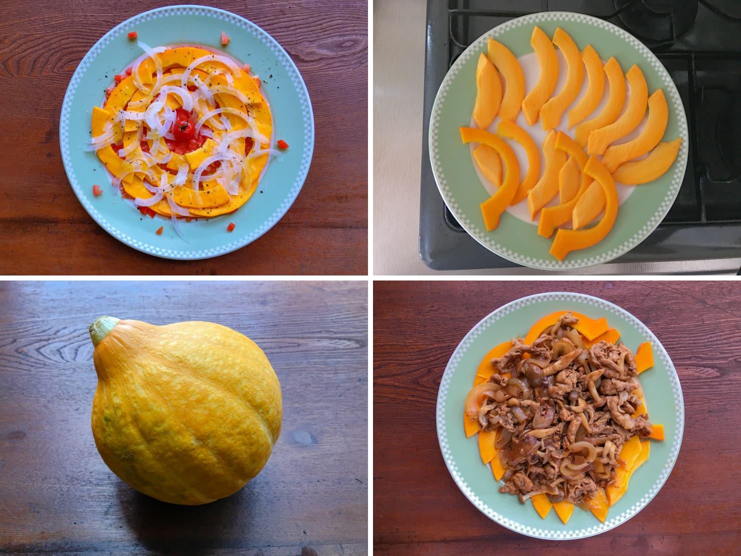 コリンキーのサラダ2種の写真