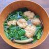 モロヘイヤとえびだんごの和風スープの写真