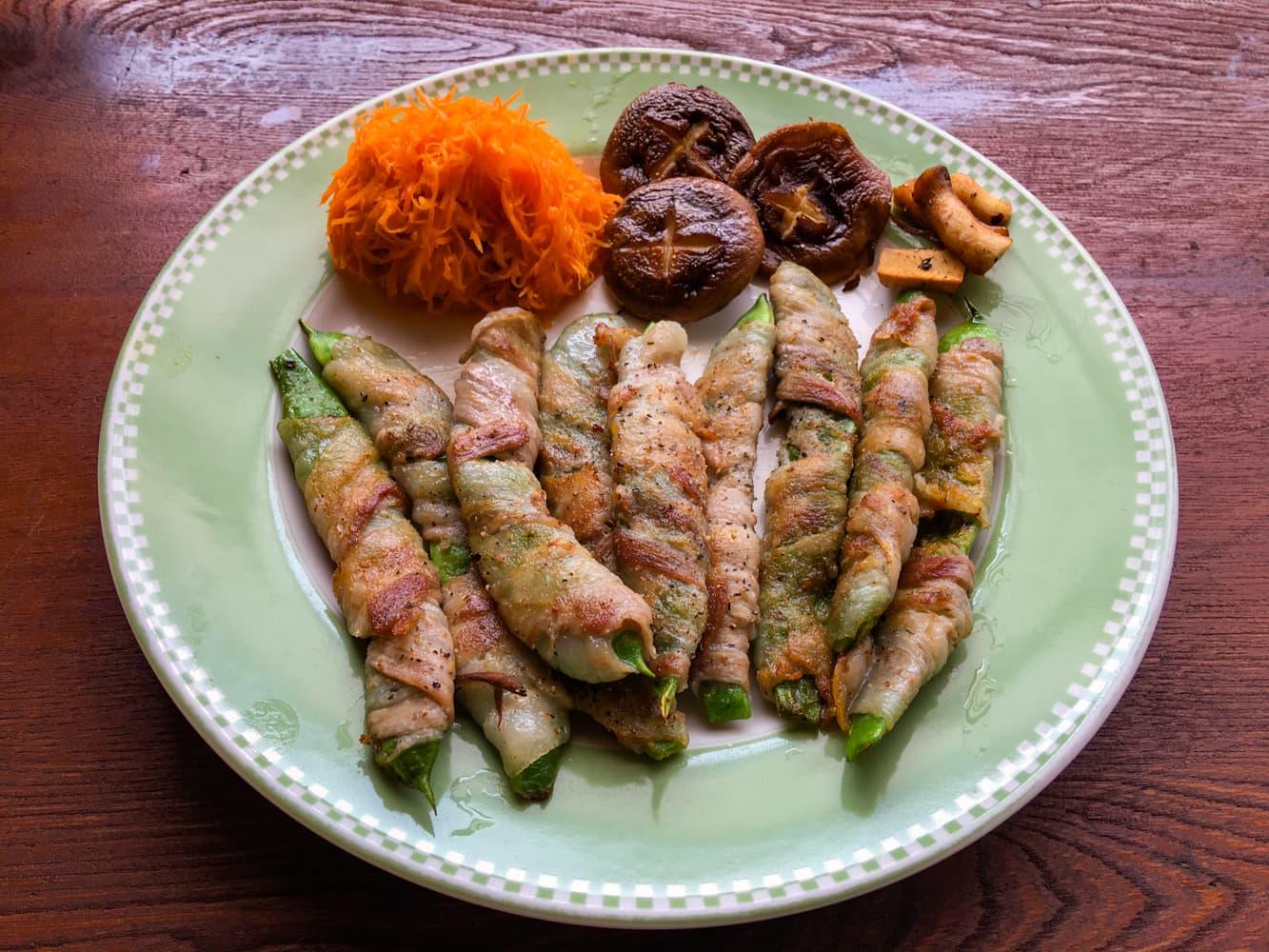 モロッコインゲンの豚肉巻きの写真